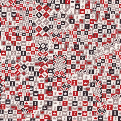 Le Galant Tissu Liberty Checkmate Rouge